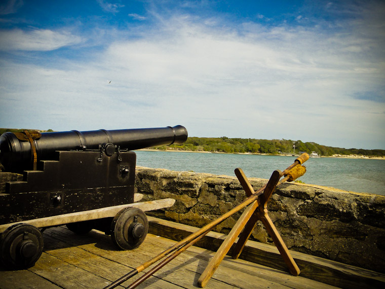Picture of Cannon at Fort Matanzas in St Augustine Florida