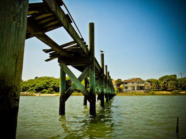 Broken Abandoned Dock in St Augustine Florida Pictures