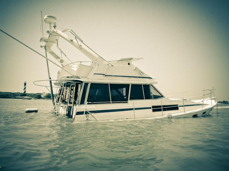 Lighthouse Sunk Boat St Augustine Florida Photos