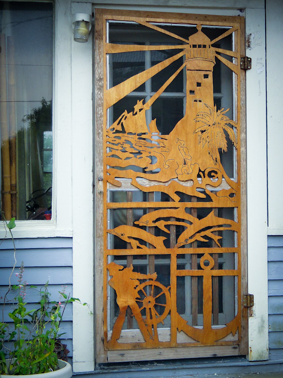 Intricate Cubbedge Road Door in Crescent Beach Florida Pictures