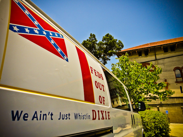 Feds OUt of Dixie Van in Saint Augustine Florida Photo