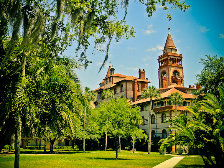 Pictures of Flagler College Trees in St Augustine Florida