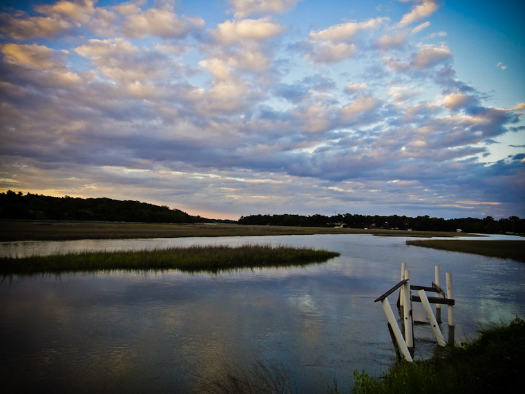 Photo of old dock at Moultrie Creek in St Augustine Florida