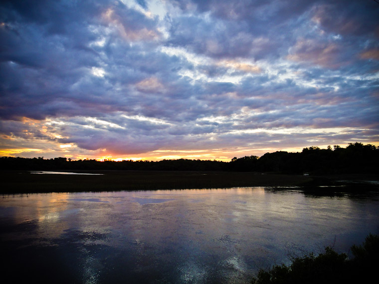 Photo of Moultrie Creek at High Tide Sunset in Saint Augustine Florida