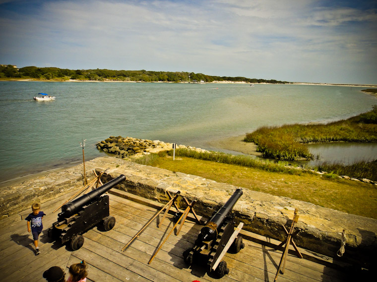 Cannons at Fort matanzas Picture in Saint Augustine Florida