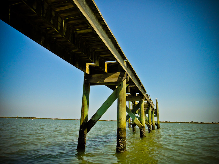 Photo of Angled intracoastal pier in st augustine florida