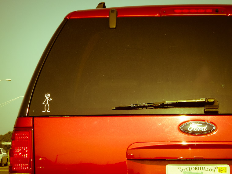 Picture of Family of One Sticker in St Augustine Florida