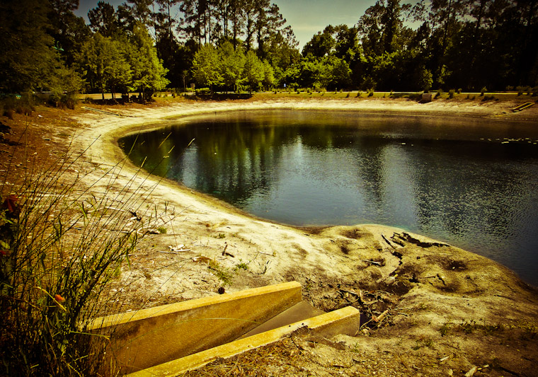 Photo of evaporating library pond in Saint Augustine florida
