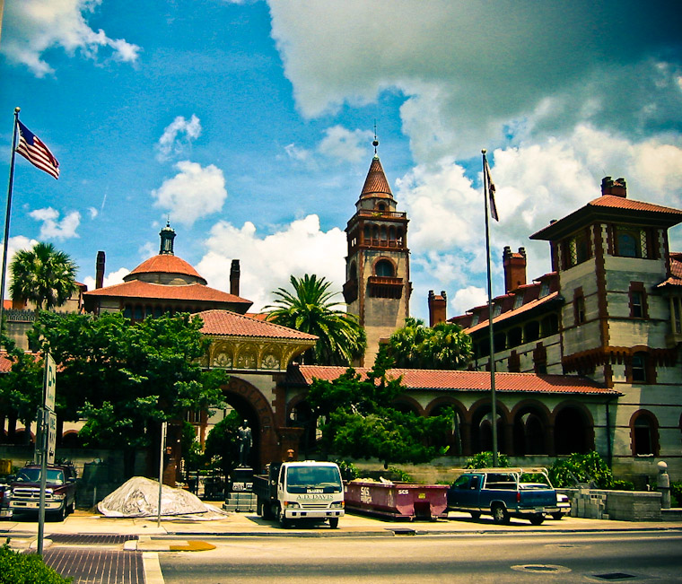 Photo of Flagler College Construction Work in Saint Augustine Florida