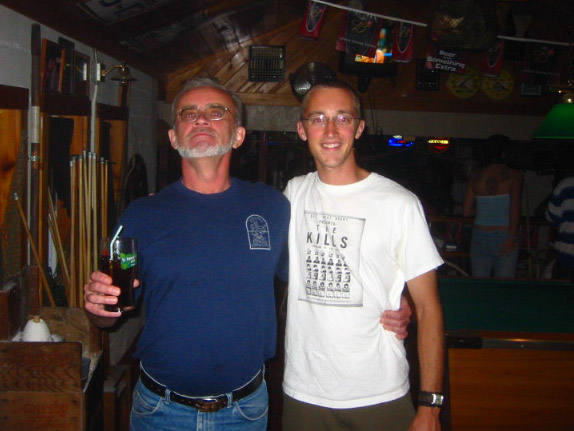 Picture of dad and me at the gator in St Augustine Florida