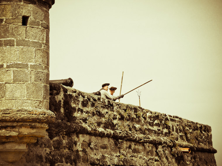 Ready Aim Fire at Fort matanzas in St Augustine Florida