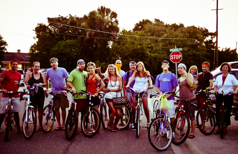 Photo of Fourth of July Bike Gang in Saint Augustine Florida