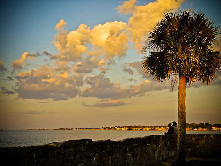 Fort Sitting Sunset in St Augustine Florida Photo