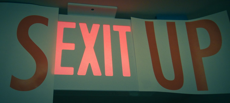 Picture of Sexitup exit sign in St Augustine Florida