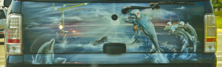 Picture of Miami Dolphins Tailgate Mural in St Augustine Florida