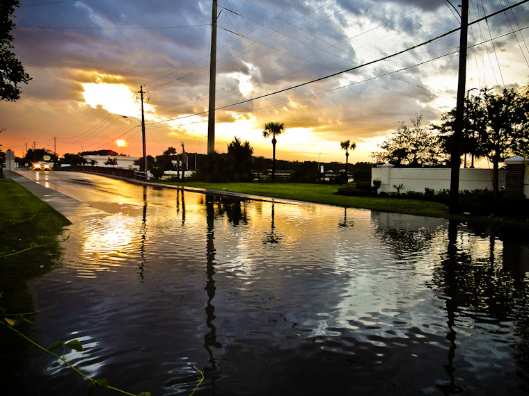 Picture of Hurricane Irene vs New Sewer System in St Augustine Florida