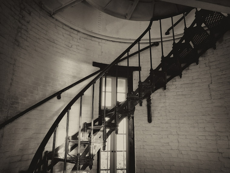 Photo of Sepia Lighthouse Stairwell in St Augustine Florida