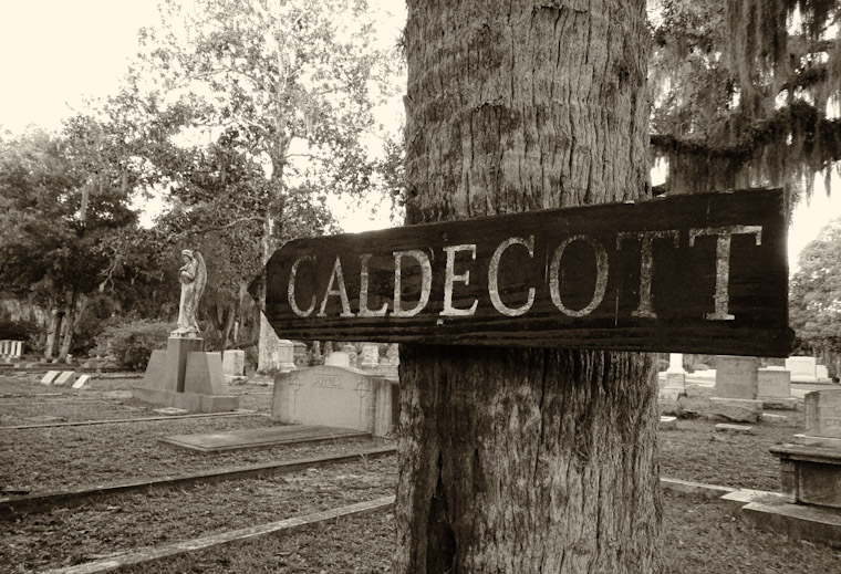 Picture of Caldecott Burial Sign in St Augustine Florida