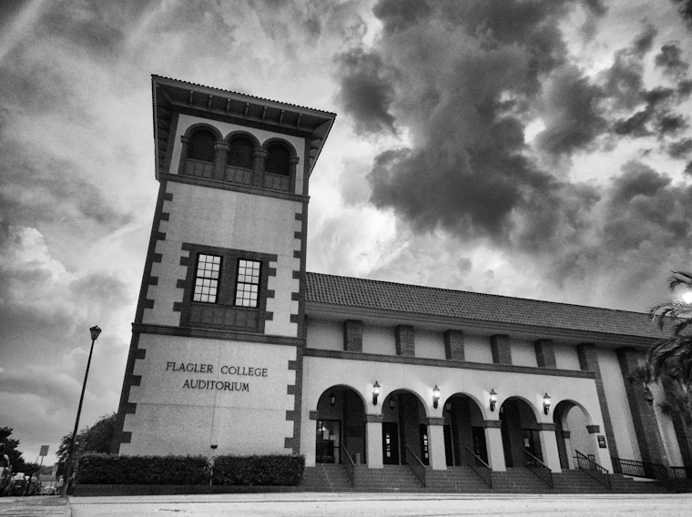 Photo of Flagler College Auditorium Storm Forming in St Augustine Florida