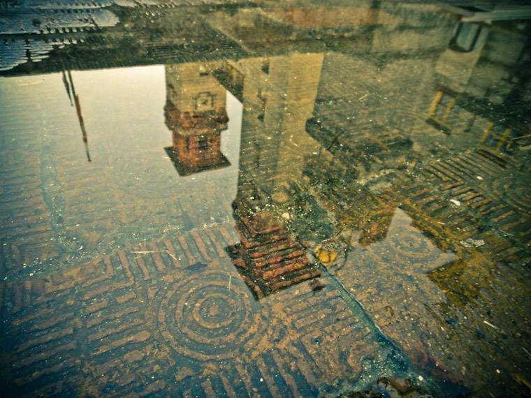 Picture of Lightner Museum Reflection in a Brick Puddle