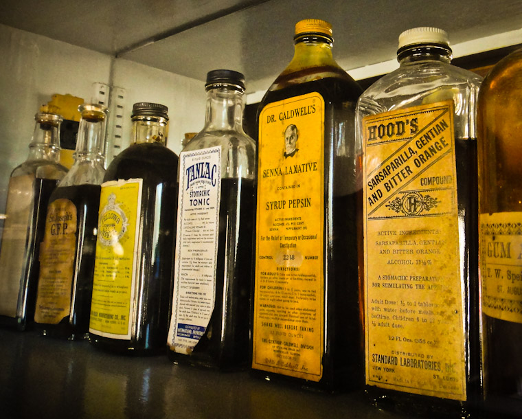 Picture of Oldest Drug Store Elixirs in St Augustine florida