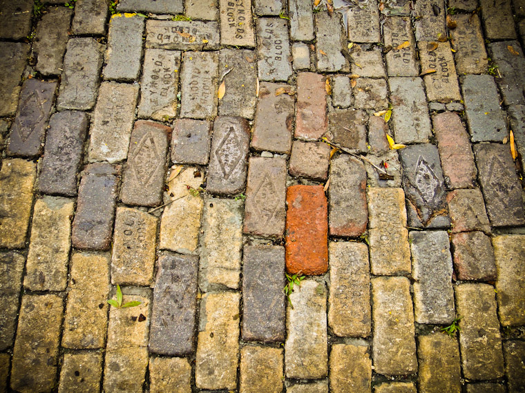 Another Brick in the Road in St Augustine Florida