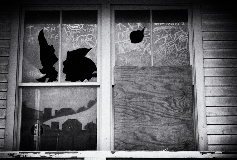 Broken Window Writing Photo