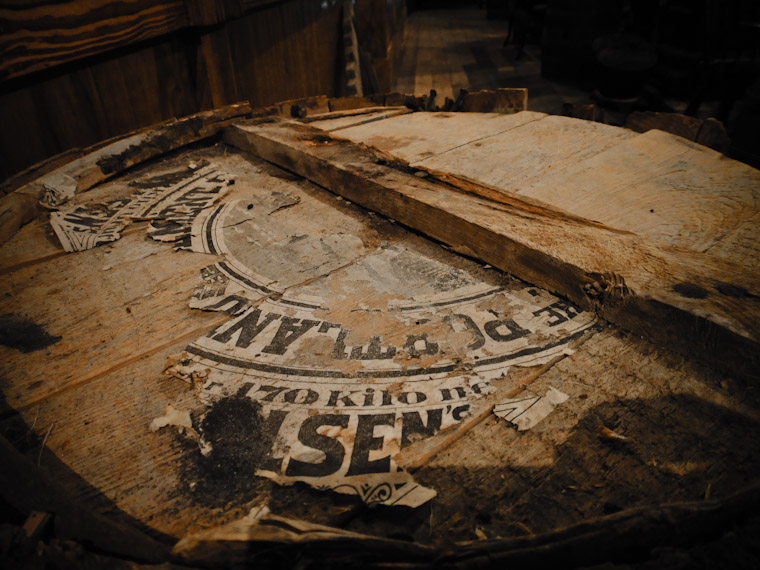 Picture of an old barrel top in flagler county