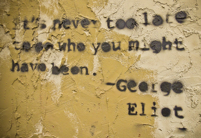 George Eliot Graffiti in St Augustine Florida