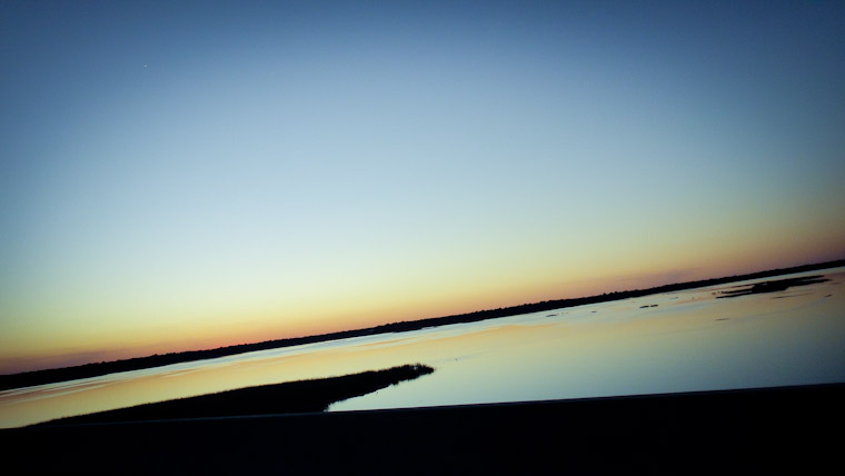 Picture of a smooth intracoastal sunset in St Augustine Florida