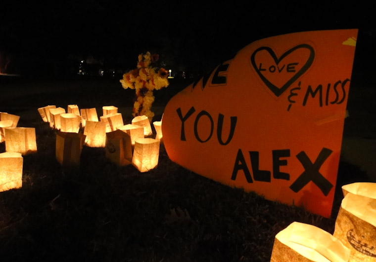 Picture of We Love & Miss You Alex sign in Davis Shores