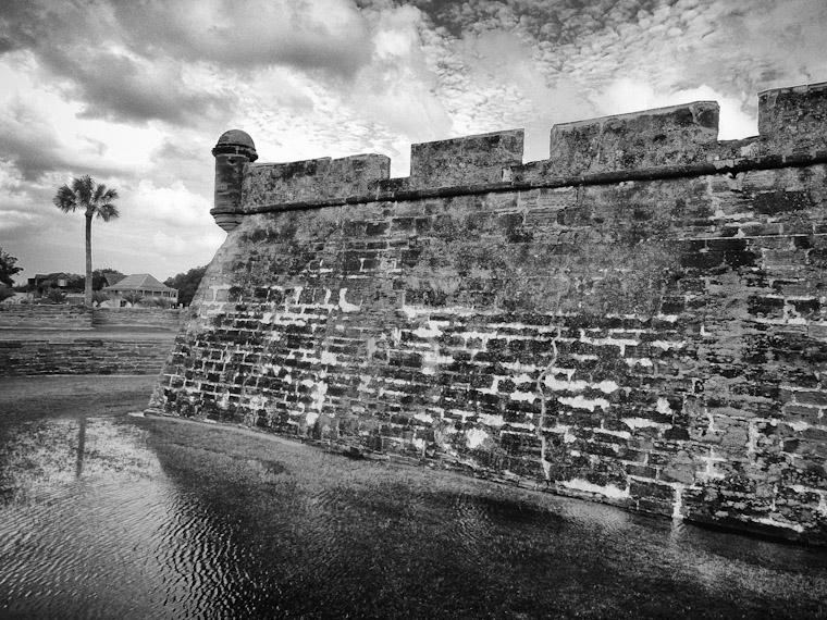Castillo de San Marcos Moat ripples in Saint Augustine Florida