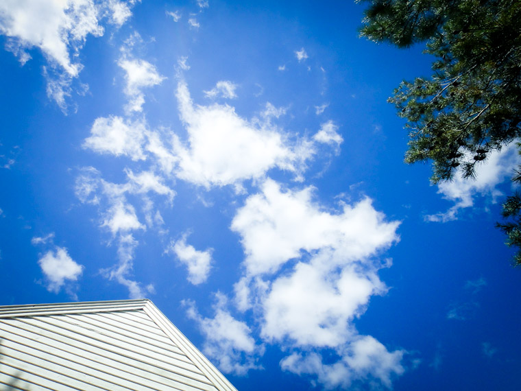 Photo of roof top popping clouds in St Augustine Florida