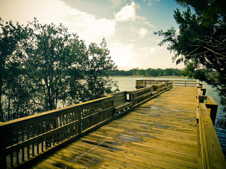 Photo of Bings Landing fishing dock in Palm Coast Florida