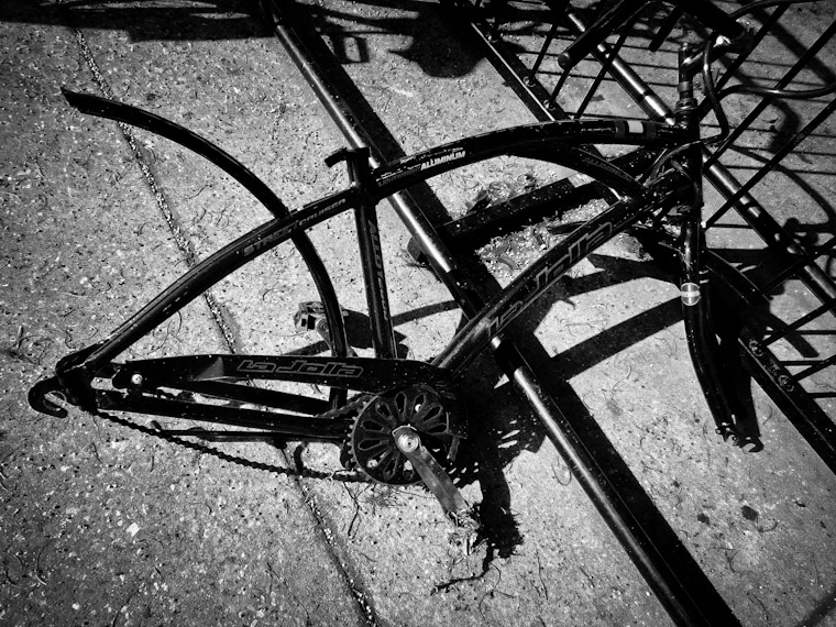Stripped bike photo at Flagler College
