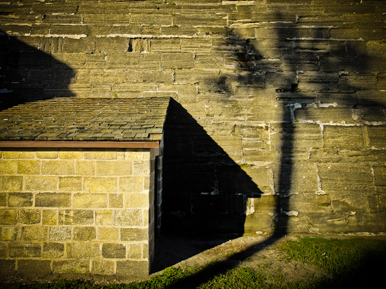 Photograph of tree shadow at the fort in Saint John's County