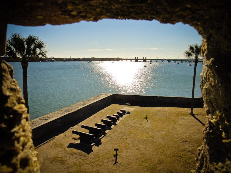 Castillo Sentry Box View in St Augustine Florida