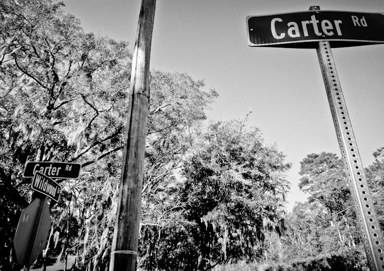 Picture of two Carter Road Signs in St Augustine Florida