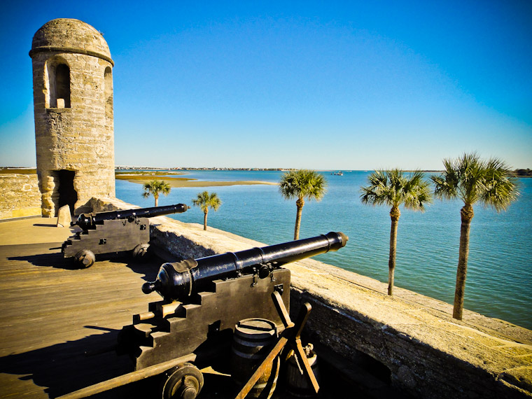 Picture of castillo cannons two if by sea in St Augustine Florida