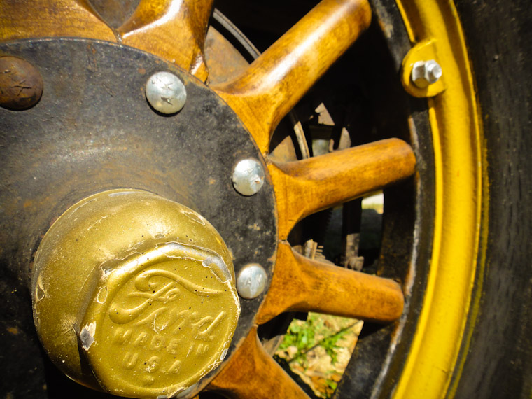 Picture of Ford Model T wheel in St Johns County