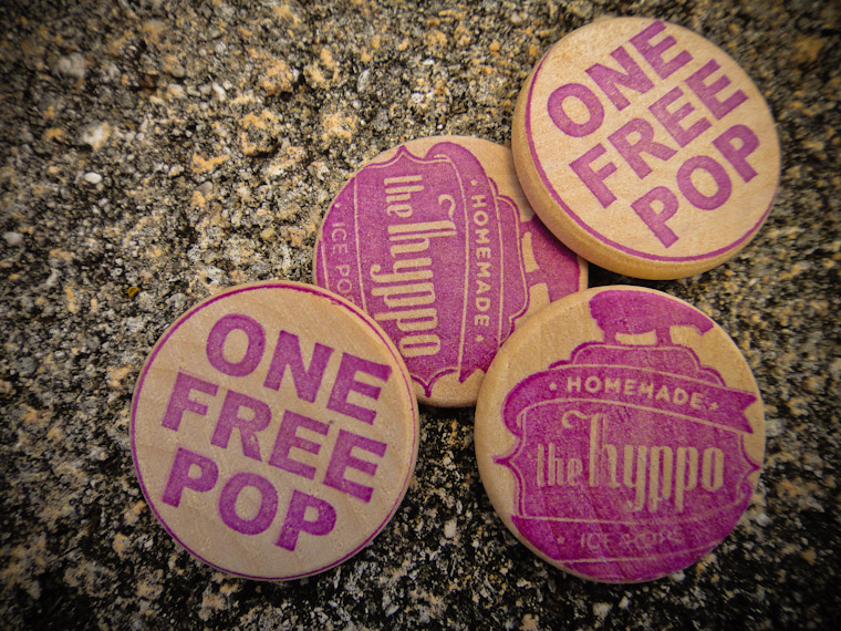 Free Hyppo Popsicle Tokens in Saint Augustine Florida