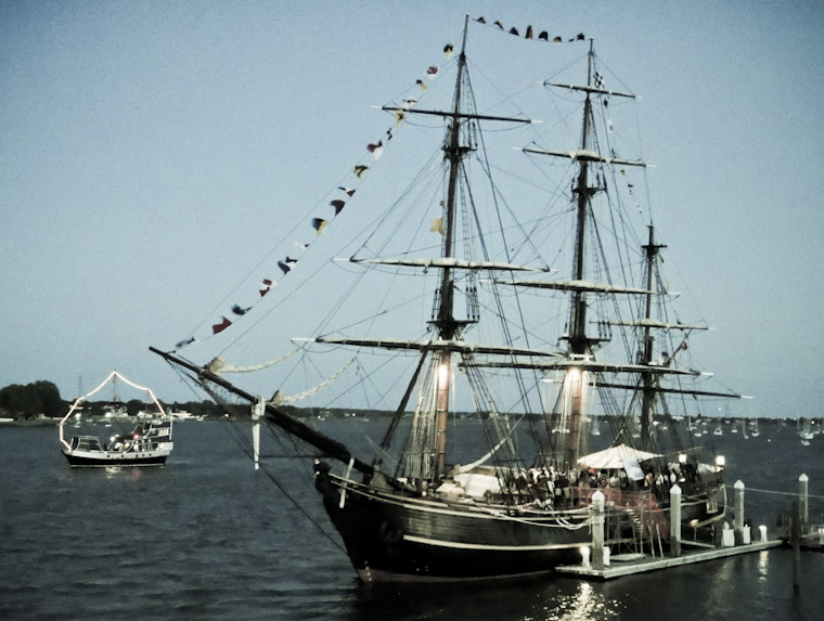 Picture of the HMS Bounty and Black Raven in the Intracoastal St Augustine