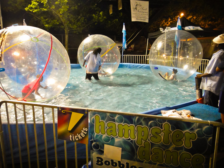 Photo of hamster dance bubble ride in St Augustine Florida