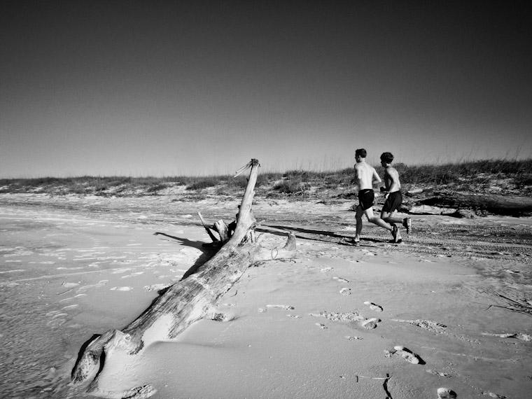 Beach run photo in St Johns County Florida