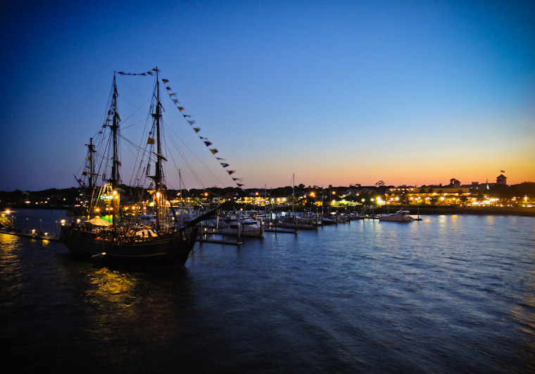 Photo of the HMS Bounty in downtown Saint Augustine Marina