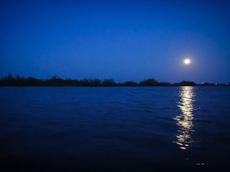 Picture of the supermoon in Saint Augustine Florida