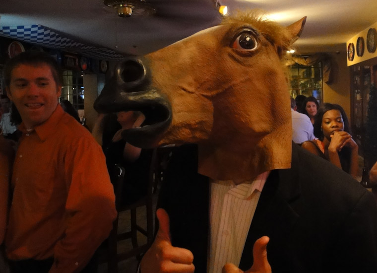 Horse Mask at JP Henley's bar in St Augustine Florida