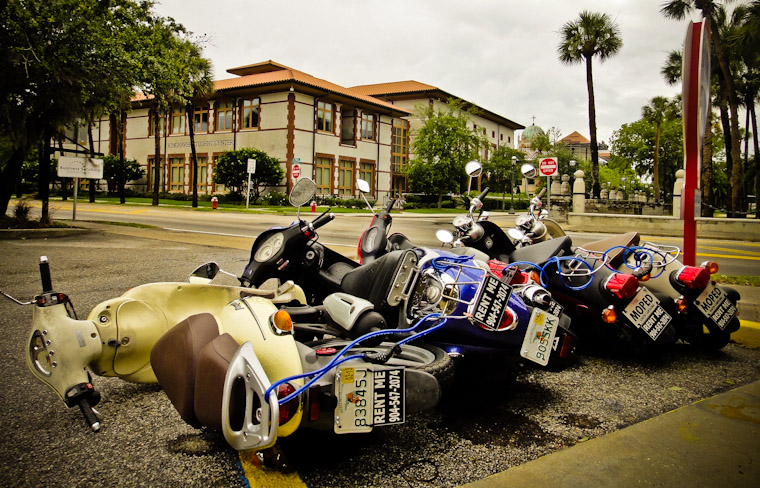 Tropical Storm Beryl Scooter Fail pictures in Saint Augustine Florida