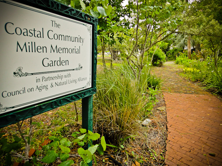 Picture of the coastal community millen memorial garden in saint augustine florida