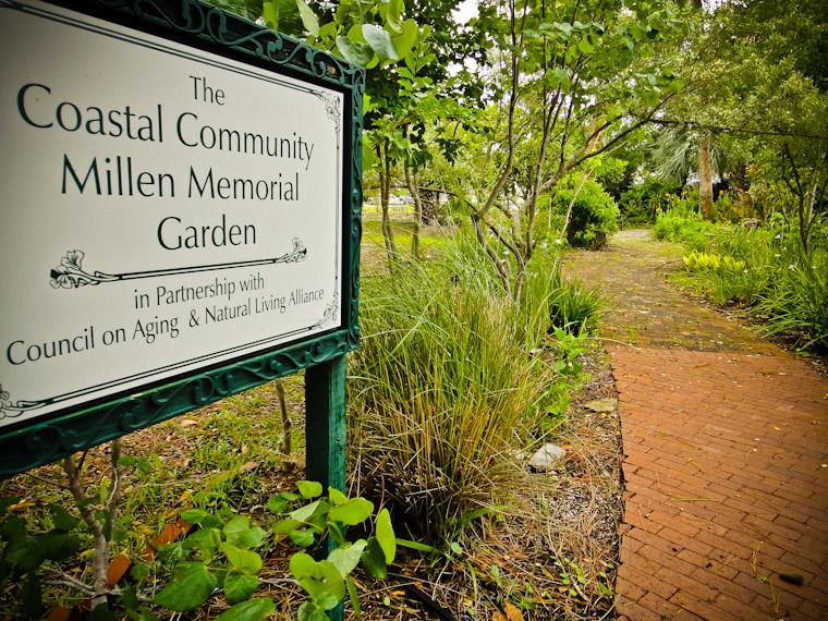 Picture of the coastal community millen memorial garden in saint augustine florida